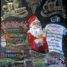 December Chalk Board at Tri-City Brewing Company.