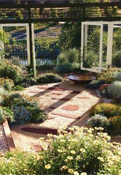 Australian garden Bush Garden, Dry Garden, Hillside Garden, Garden Art, Garden Design, Landscape Design, Garden Ideas, Australian Native Garden, Back Gardens