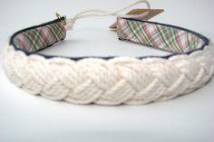 PURSELADYTOO - Kiel James Patrick and Sarah Vickers Headband Vicki Jerangle Carrick Nautical Rope , $35.00 (http://www.purseladytoo.com/kiel-james-patrick-and-sarah-vickers-headband-vicki-jerangle-carrick-nautical-rope/)
