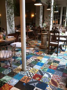 The Pig, Brockenhurst - love the floor