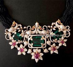 Peacock Diamond Pendant by Pushkala