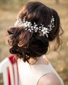 Bridal Headpiece, Wedding Hair Vine, Bridal Hair Vine, Bridal Hair Accessories, Crystal Pearl Headpiece, Wedding Pearl Halo, Ornament