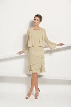 M170010 - Beautiful short dress with a long sleeve jacket  Available in 29 colors