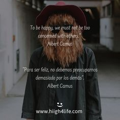 #happy #happiness #quote #quotes #phrase #letras #letters #design #motivation #inspiration #motivacion #inspiracion #mindfulness #mindset Albert Camus, Happiness, Self Development, Philosophy, Happy, Being Happy, Bonheur, Philosophy Books