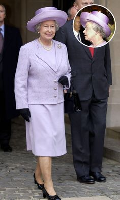 Although she regularly commissions new hat designs, royal milliner Philip Somerville has noted that she often chooses to rewear her favourite hats - sometimes 20 to 30 times. Wide-brimmed hats, like this purple topper, are her favourite choice. <br><p>Photo: © Getty Images</p>