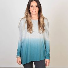 Twisted Muse has created the Emily top with a dip dye gradual effect.This top is tight fitting to flatter your frame There is a seam-free sleeve for comfort.  To add the 'twist' both front and back have a deep 'V' shape to the front and back neck line. The fabric is supersoft for a luxury feel.  Our model is a UK size 10 and wears a Twisted Muse size small and is 5'8″ tall. Twisted Muse uses only the finest quality fabrics and trims all locally sourced and...