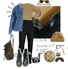 Best Vintage Outfits Part 12 Hipster Outfits, Grunge Outfits, Fall Outfits, Cute Outfits, Fashion Outfits, Fashion Trends, Fashion Women, Aesthetic Fashion, Aesthetic Clothes
