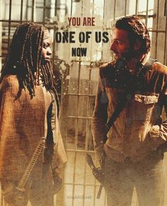 "Michonne & Rick Grimes, The Walking Dead ""You are one of us now."""