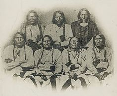 Colorado War-(Portrait of Black Kettle or Moke-Tao-To? and Delegation Of Cheyenne and Arapaho Chiefs 28 SEP 1864)- The  was fought from 1863 to 1865 and was an Indian War between the Cheyenne and Arapaho tribes, against white settlers and militia in the Colorado Territory and adjacent regions.--WIKI