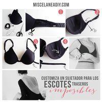 DIY Backless bra | Customiza un sujetador para prendas con escotes en la espalda.