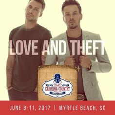 The announcements just keep coming! Love and Theft will be performing at the Carolina Country Music Festival in Myrtle Beach, South Carolina! For info and tickets go to