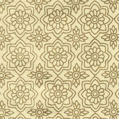 Papel indio beige de patrones arabescos dorados