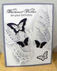 beautiful butterfly card.