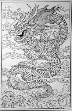 Drawn chinese dragon line art - pin to your gallery. Explore what was found for the drawn chinese dragon line art Chinese Dragon Drawing, Chinese Dragon Tattoos, Chinese Art, Dragon Line Drawing, Fantasy Dragon, Dragon Art, Bild Tattoos, Body Art Tattoos, Sleeve Tattoos