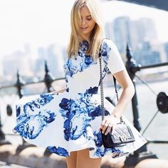 Bloom Scuba Dress | Spotted on tuulavintage