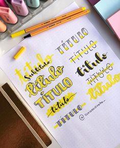 Cute bullet journal doodles by ig Bullet Journal School, Bullet Journal Inspo, Bullet Journal Titles, Journal Fonts, Bullet Journal Aesthetic, Lettering Tutorial, Lettering Brush, Lettering Ideas, Kalender Design