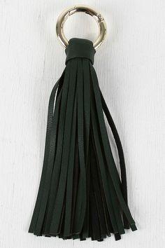 Vegan Leather Tassel Keychain. Guest gift at wedding?