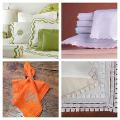 Gramercy Fine Linens & Furnishings #monogram {click for more monogram ideas}