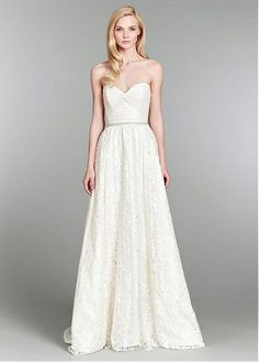CHARMING TULLE SATIN LACE A-LINE SWEETHEART NECK RAISED WAISTLINE WEDDING DRESS LACE FORMAL PROM PARTY BALL GOWN