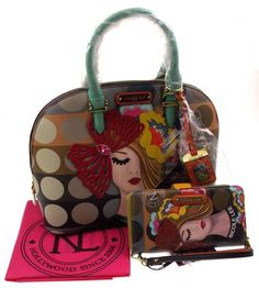 Nicole Lee Vicky Thinks Fashion Domed Satchel Handbag Wallet VIC11687 Purse Tote - FUNsational Finds - 1