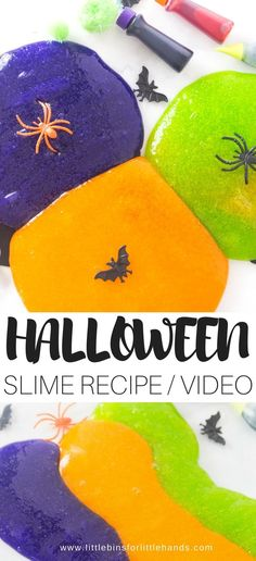Learn how to make a simple and colorful slime that has a spooky Halloween theme. A great hands on sensory activity for your elementary aged kids! Fun for homeschool, distance learning and th classroom this fall season. Make this homemade Halloween slime recipe this season with the kids. Halloween Theme Preschool, Halloween Science, Halloween Party Supplies, Homemade Halloween, Easy Halloween, Halloween Crafts, Halloween 2020, Halloween Stuff, Cool Slime Recipes