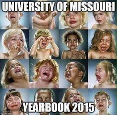 University of Missouri Yearbook 2015 | Mizzou | Safe Space | Humor