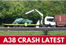 Man in his late 20s dies in A38 crash  Police set up an Exeter-bound road closure from Goodstone junction and put ... Please call 101 or email 101@dc.police.uk quoting log 82 of 12 May 2017.  #ZincLegal #RoadTrafficAccident