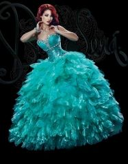 2016 new puffy sweet 15 ball gown turquoise ruffled organza quinceanera dress with beading and rhinestones BS-1516 http://www.topdesignbridal.net/2016-new-puffy-sweet-15-ball-gown-turquoise-ruffled-organza-quinceanera-dress-with-beading-and-rhinestones-bs-1516_p4233.html