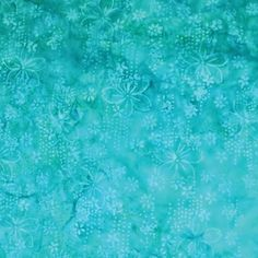Anthology Batiks 2014 Potpourri Turquoise Falling Blooms