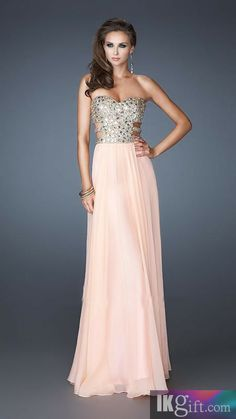 A-Line Sweetheart Beading and Sequins Long Prom Dress - Prom Dresses - Special Occasion Dresses - Wedding & Events