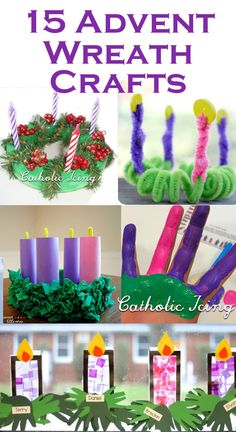 Advent Wreath Crafts For Kids (The Ultimate List!) Advent Wreath Crafts For Kids. This is such a great list! Tons of amazing craft ideas here for Advent. Advent Wreath Candles, Christmas Advent Wreath, Nordic Christmas, Advent Wreaths, Christmas Tables, Modern Christmas, Reindeer Christmas, Kids Crafts, Christmas Crafts For Kids