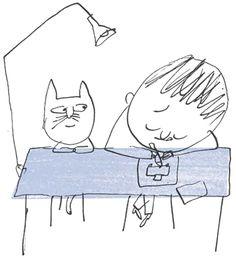 Illustration from 'La grande histoire d'un petit trait / The big adventure of a little line' by Serge Bloch – published by Éditions Sarbacane