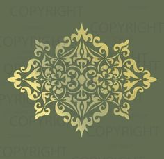 large wall Damask Stencil Pattern faux mural 1023. $11.75, via Etsy.