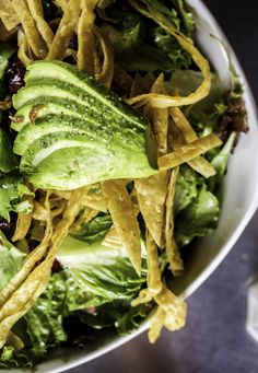 Billy The Kid (Romaine,baby green mix, avocado,tomatoes,gorgonzola, crispy prosciutto,and tortilla chips with our citrus vinaigrette dressing)