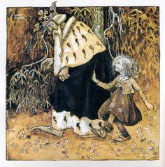 Linda Gold And The Old King - John Bauer