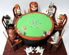 Edible Art of the Day Winner for Wednesday July 9, 2012 is Sarah Rumzis and her Poker Dog cake.