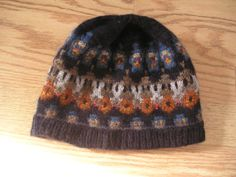 The Dean Cap yarn - a Bohus design that captures the timelessness of this art form. Pattern is in the book Poems of Color by Wendy Keele.