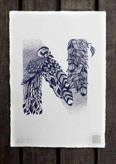 Типографика от Валери Хьюго, оттолкнувшаяся от природы