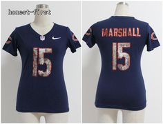 nike bears 34 walter payton navy blue mens embroidered nfl 1940s throwback elite autographed jersey. nike women chicago bears 15 marshall handwork seq