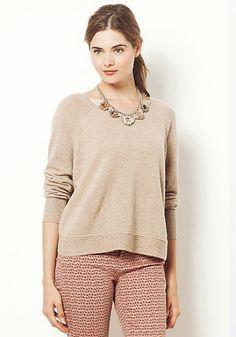 Neutral Cashmere Pullover by Cocoa Cashmere #AnthropologieEu