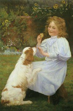 """William Henry Gore (British, 1880-1920), """"The Pleasures of Hope"""", 1890"""