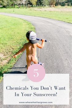 Read about the effects these chemicals can have on you and your family! My top 3 chemical free sunscreens!