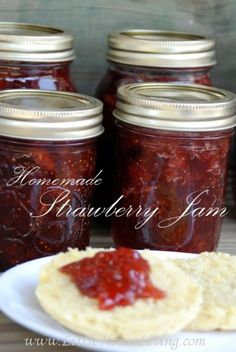 Do you have an abundance of strawberries this summer? Here's how to easily preserve it to enjoy all winter! http://www.littlehouseliving.com/homemade-strawberry-jam-recipe.html?utm_campaign=coschedule&utm_source=pinterest&utm_medium=Merissa%20Alink%20(Little%20House%20Living)%20(Fruits)&utm_content=Homemade%20Strawberry%20Jam%20Recipe