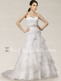 Find drop waist wedding dresses with corset top online to achieve a flattering figure. Free delivery.#wedding #bridal