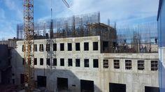 Строительство нового корпуса хранилища Эрмитажа на Старой Деревне. Вид из окон бассейна Таурас-Фитнесс.