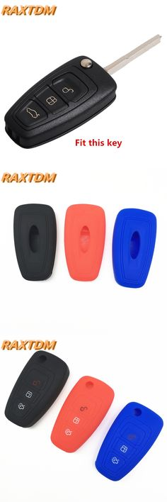 3 buttons Silicone Car Key Case Cover for Ford Focus 3 Mondeo MK3 Kuga Fiesta Escape Ecosport 1pcs