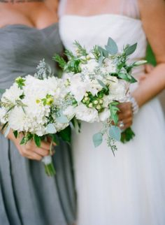 Dusty Blue Bridesmaid Dress, Bouquet with Blue, Winter Wedding Bouquet