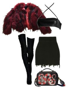"""Untitled #349"" by milly-oro on Polyvore featuring Balmain and Gucci"