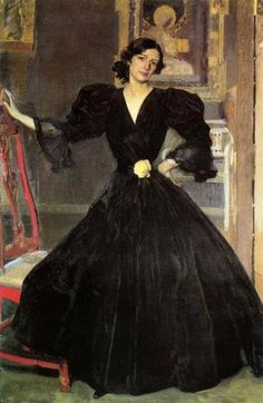 Clotilde in a black dress, Sorolla, 1906