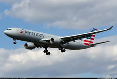 The second US Airways A330 in American Airlines colors on final at Philadelphia.